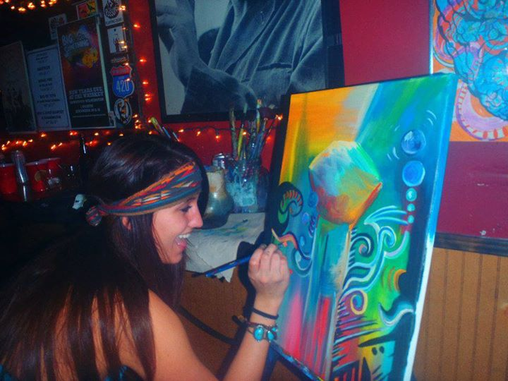 """Your a jewel"" Jahde painting live"