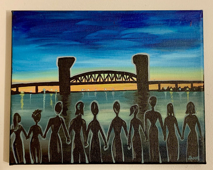 "Original Painting ""Together We Stand"" (Size: 8""X10"")"