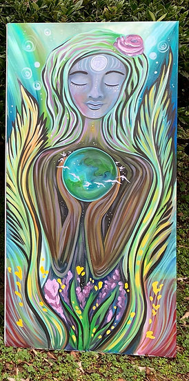 "Original Painting of ""Being with earth"""