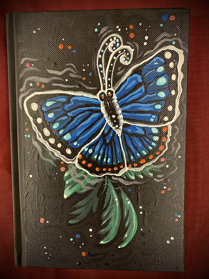 """Hand-Painted Sketchbook """"Fly Free"""""""