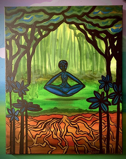 "Original Painting of ""Meditate"""