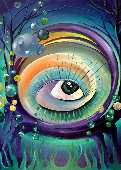 """""""I sea bubbles"""" Canvas Print (11"""" X 14"""")"""