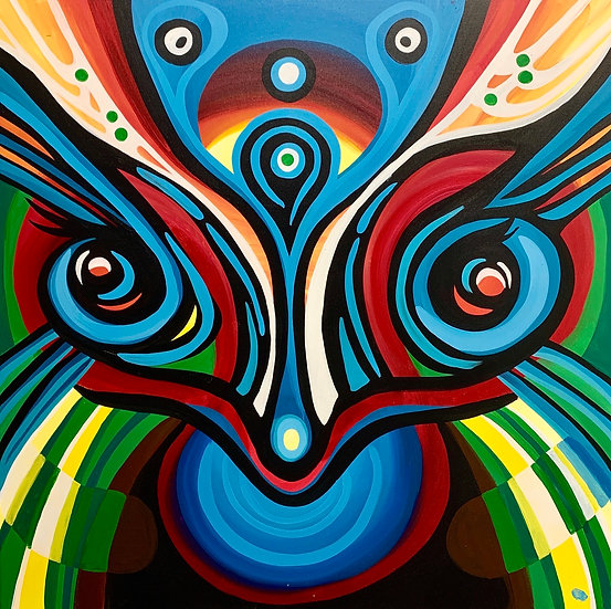 """Large Canvas Print of """"Flow to Grow"""" (36""""x36"""")"""
