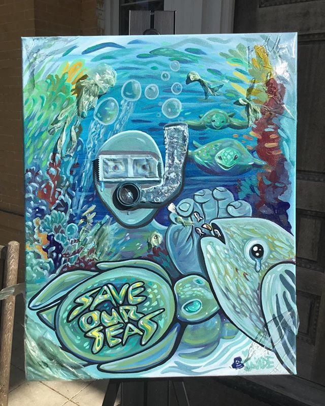 Mixed media : Plastics in our ocean