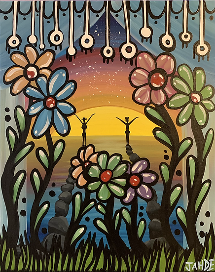 "Original Painting ""Flower pitch painting"""