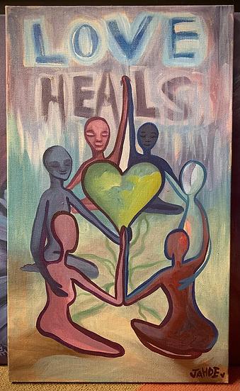 "Original Painting of ""Love Heals"""