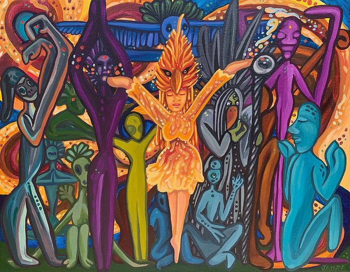 Scene 6 of the Firebird Series : Original Painting