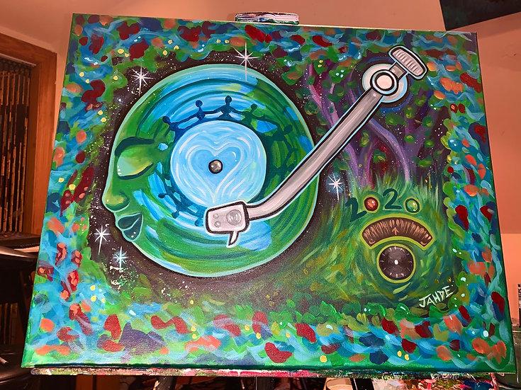 "Paper print of ""Music Heals"" *Hifi records* fundraiser 8""X10"""