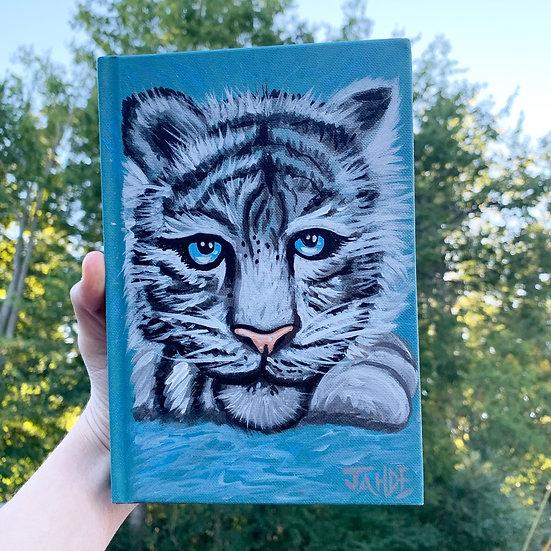 "Hand-painted sketchbook ""Silver"""