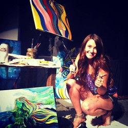Painting Live at Brooklyn Arts center for The Matrix