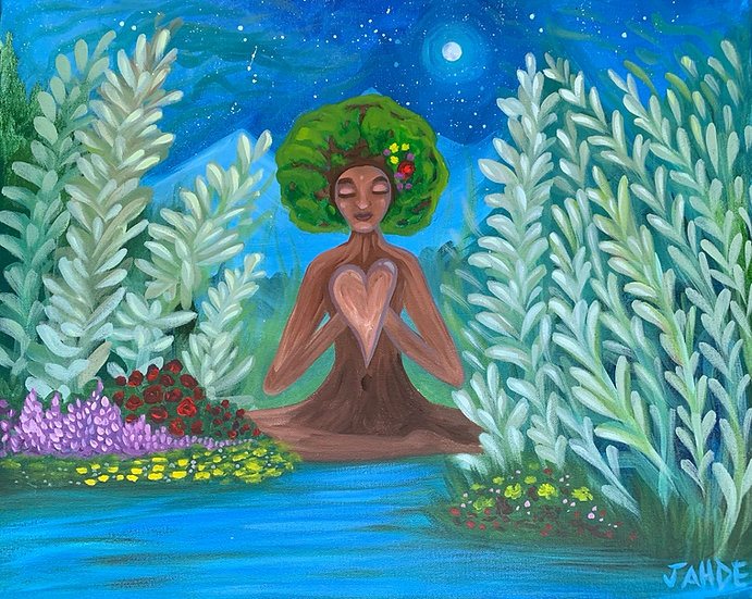 """Mama Sage"" Original Painting (16"" x 20"") *Fundraiser"