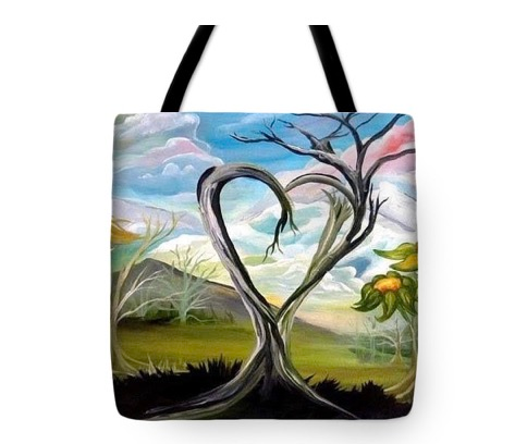 "Tote Bag of ""True Tree Love"" (Size: 16""X16"")"