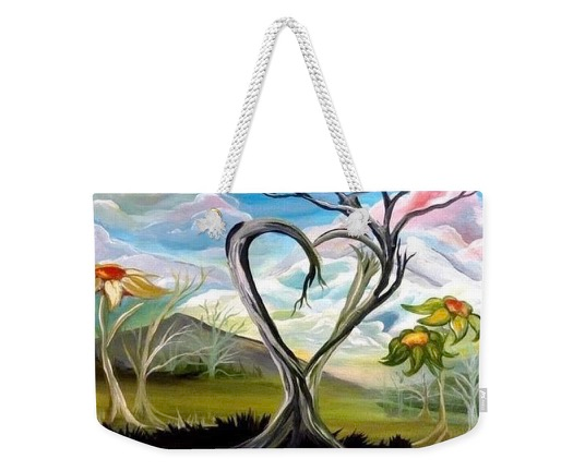 "Large Tote Bag of ""True Tree Love"" (Size: 24""X16"")"