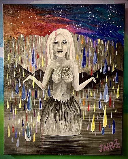 "Original Painting of ""Rainbow Showers"""