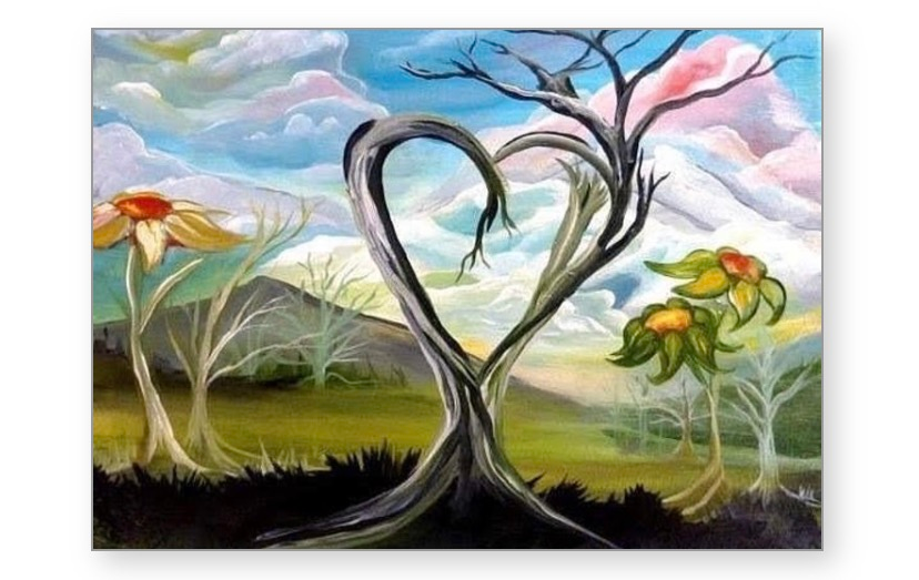 """Greeting Cards: 10 pack of """"True Tree Love"""""""
