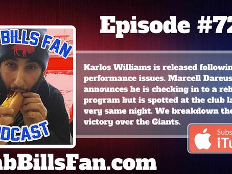 Numb Bills Fan Podcast #72 - Bills Win 21-0, Karlos checks out, Dareus checks in (to rehab)