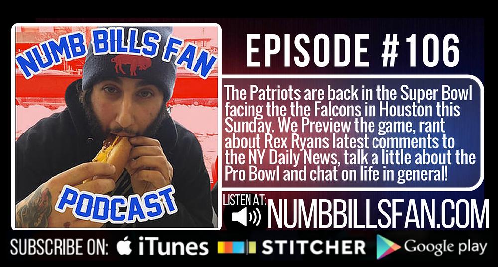 Numb Bills Fan Podcast Episode #106 | Authentic Bufalo Bills talk with Dave Palermo & Adam Deacon