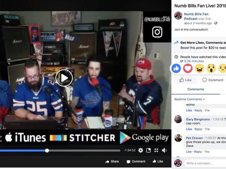 Numb Bills Fan 2018 Draft Show! Drunk Dean, Fantasy Smitty, Jeff Knight Live Panel with David J Pale