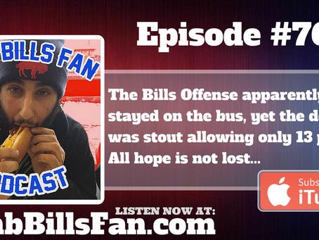 Numb Bills Fan Podcast #76 - Get Off the Damn Ledge, Bills at Ravens Debacle.