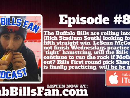 Numb Bills Fan Podcast #87 - #BUFvsMIA Preview - If McCoy is Out Can the Bills Win?