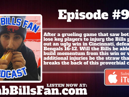 Numb Bills Fan Podcast - #94 Losing Streak is Over but the Injury Streak is Not