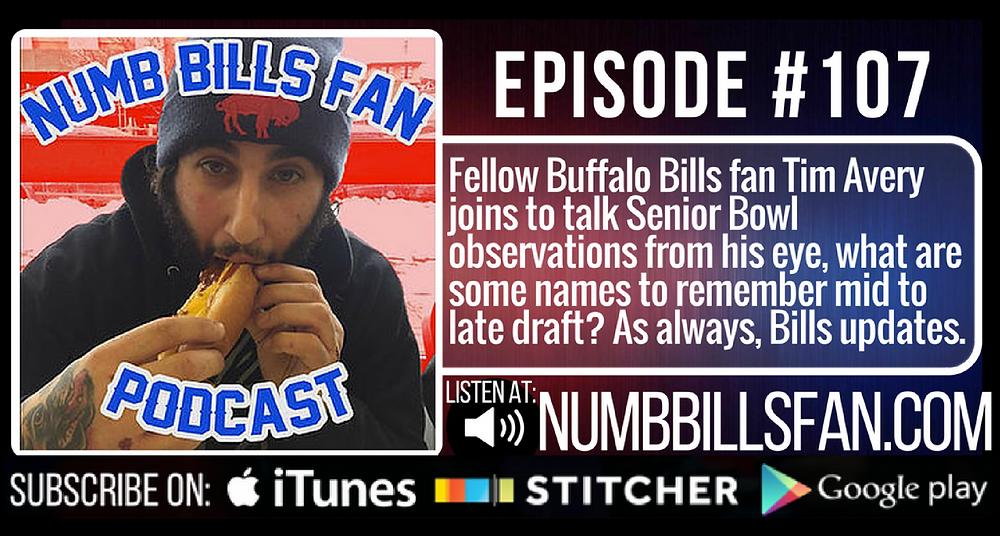 Numb Bills Fan Podcast Episode 107 | Authentic Bufalo Bills talk with Dave Palermo & Adam Deacon