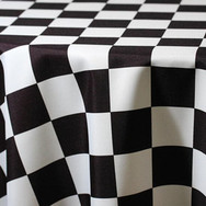 Black and White Checkered Poly