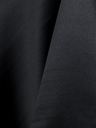 Black Matte Satin Linen