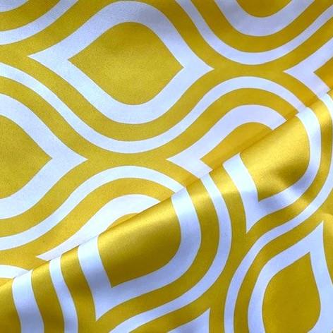 Yellow Groovy Matte Satin