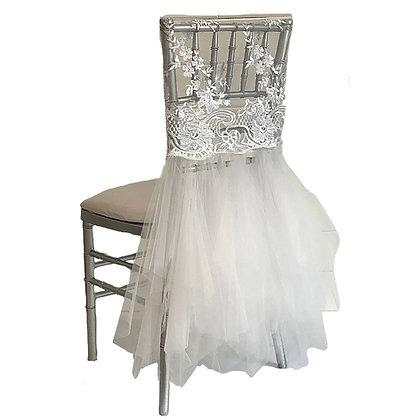 White Bridal Chiavari Chair Cap Cover Rental