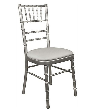 Silver Chiavari Chair Rental for wedding event and ceremony in Grand Rapids, Grand Blanc Traverse City Mi