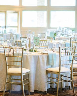 Gold Chiavari chair rental at Michigan Wedding