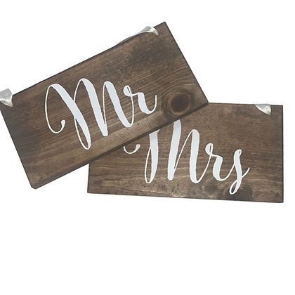 Mr. and Mrs. Chair sign rental for wedding reception in Grand Rapids, Grand Blanc, Traverse City Michigan