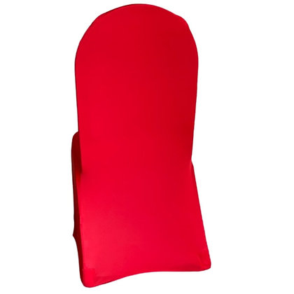 Red Spandex Chair Cover Rental