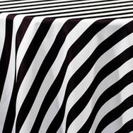 Black and White Stripe Printed Poly