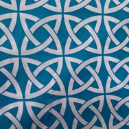 Turquoise Mystic Printed Poly