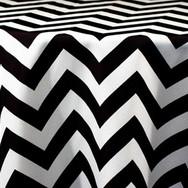 Black and White Chevron Printed Poly