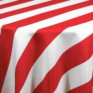 Red Cabana Stripe Printed Poly