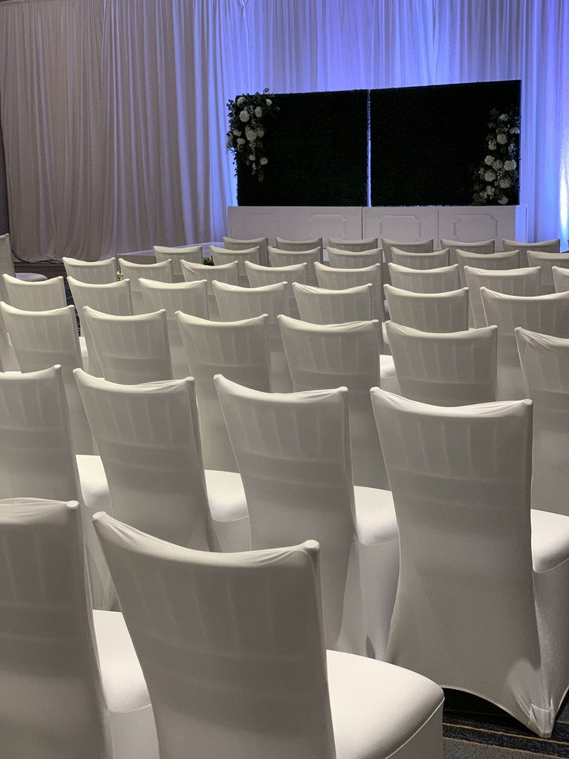 White spandex chair covers in Michigan