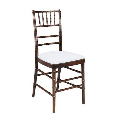 Mahogany Wood Chiavari Chair Rental for wedding event and ce