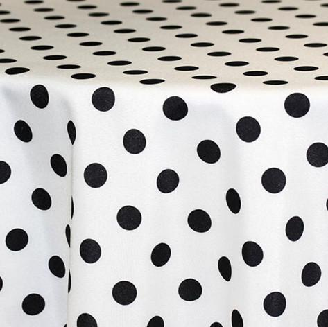 White with Black Polka Dot Printed Po