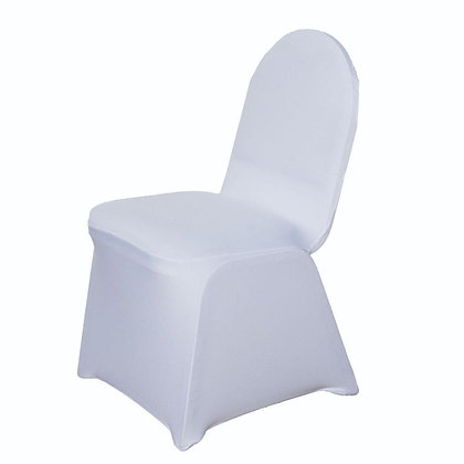 White spandex chair cover rental in Grand Rapids, Grand Blanc and Traverse City Michigan for wedding, party, ceremony