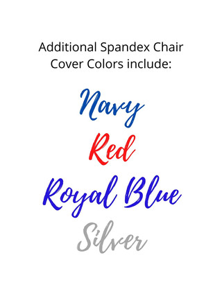 Additional Chair Spandex Cover Colors in