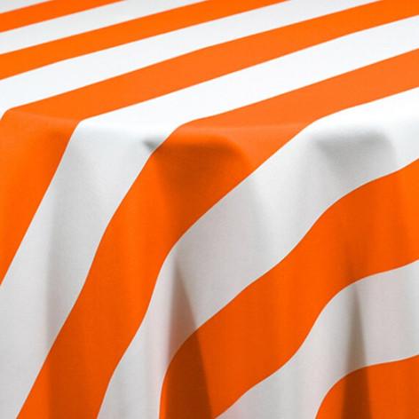 Orange Cabana Stripe Printed Poly