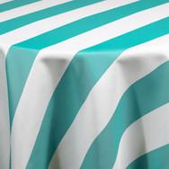 Turquoise Cabana Stripe Printed Poly