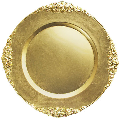Gold Antique Acrylic Charger