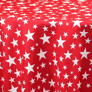 Red Stars Printed Poly