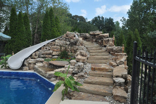 Water Feature Slide and Step Blocks