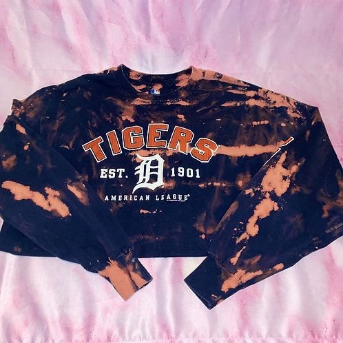 Bleached Detroit Tigers Long Sleeve