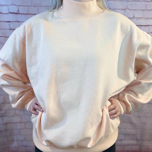 Comfy Blush Turtle Neck Sweatshirts